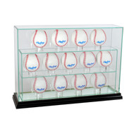 Deluxe Real Glass Thirteen Baseball UPRIGHT Display Case
