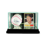 Deluxe Real Glass Card and Baseball Display Case