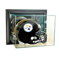 Deluxe Real Glass Wall Mounted Football Helmet Display Case