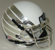 Oregon Ducks Authentic Schutt Mini Football Helmet - White with Carbon Fiber Wings
