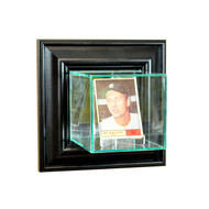 Deluxe Real Glass Wall Mounted Single Card Display Case