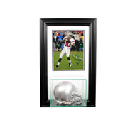 Deluxe Real Glass Wall Mounted Mini Helmet 8 x 10 Display Case