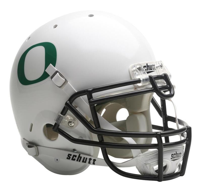 61ef4fda58c Oregon Ducks Schutt White Full Size Authentic Helmet. Schutt. Image 1