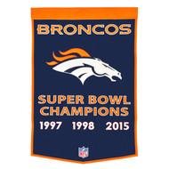 Denver Broncos Dynasty Banner