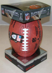 Super Bowl XLV 45 Official Leather Authentic Game Football by Wilson