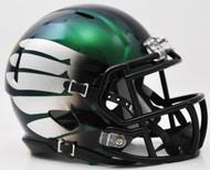 Oregon Ducks LiquidMetal Speed Mini Football Helmet Liquid Lightning HydroSkin Titanium Thunder Green