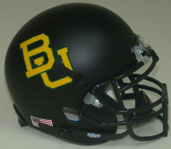 Baylor Bears Matte Black Schutt Mini Authentic Helmet