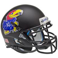 Kansas Jayhawks Alternate Black Schutt Mini Authentic Helmet