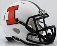 Illinois Illini Alternate White NCAA Riddell SPEED Mini Helmet