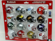 NCAA BIG 10 Pocket Pro Speed Revolution Mini Helmets Set by Riddell