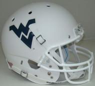 West Virginia Mountaineers Schutt Alternate Matte White Full Size Replica Helmet