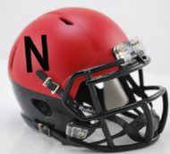 Nebraska Cornhuskers Matte Scarlet Alternate Revolution SPEED Mini Helmet