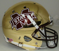 Mississippi State Bulldogs Alternate CHROME Schutt Full Size Replica Helmet