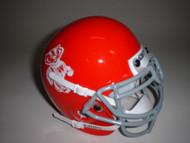 Wisconsin Badgers Red 1969 Bucky Badger Mascot Logo Schutt Throwback Mini Authentic Helmet