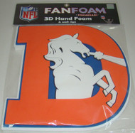 Denver Broncos Throwback 3D Fan Foam Logo Sign