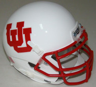 Utah Utes Alternate White UU Schutt Mini Authentic Helmet