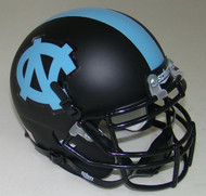 North Carolina Tar Heels Alternate Black Schutt Mini Authentic Helmet