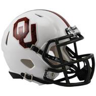 """Oklahoma Sooners Alternate White """"Bring the Wood"""" NCAA Riddell Speed Mini Helmet"""