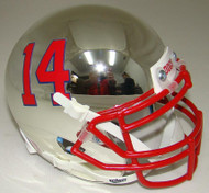 Fresno State Bulldogs Alternate Chrome Schutt Mini Authentic Helmet