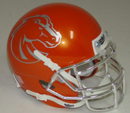 Boise State Broncos Alternate Orange Chrome Schutt Mini Authentic Helmet