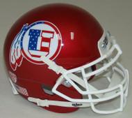 Utah Utes Alternate Red White & Blue Schutt Mini Authentic Helmet