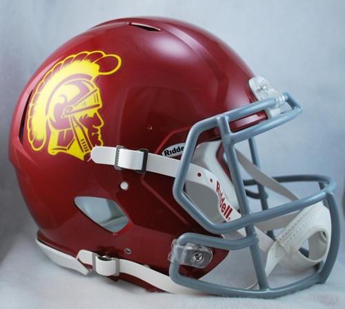 USC Trojans NEW Riddell Full Size Authentic SPEED Helmet 06fe0e115