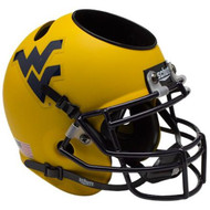 West Virginia Mountaineers Alternate Gold Mini Helmet Desk Caddy by Schutt