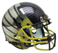 Oregon Ducks Authentic Schutt Mini Football Helmet - Carbon Fiber with Yellow Fade Wings