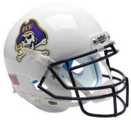 East Carolina Pirates Alternate White Schutt Mini Authentic Helmet