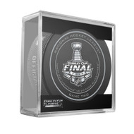 2015 NHL Stanley Cup Finals Playoff Sherwood Official Game Puck - Game 2 (Two)