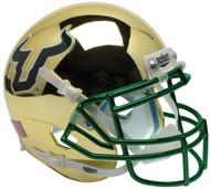 South Florida Bulls Alternate Gold Chrome Schutt Mini Authentic Helmet
