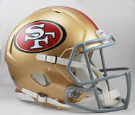 San Francisco 49ers NEW Riddell Full Size Authentic SPEED Helmet