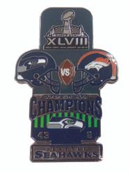 Super Bowl XLVIII (48) Commemorative Lapel Pin