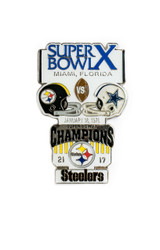 Super Bowl X (10) Commemorative Lapel Pin