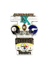 Super Bowl IX (9) Commemorative Lapel Pin