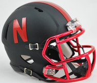 Nebraska Cornhuskers Black Chrome Alternate Revolution SPEED Mini Helmet