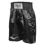 Standard Boxing Trunks - Bottom Of Knee (All Black) - Large
