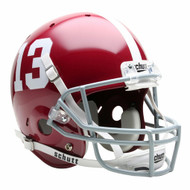 Alabama Crimson Tide #13 Schutt Full Size Replica Helmet