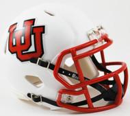 Utah Utes Alternate White Interlocking U Revolution NCAA SPEED Mini Helmet