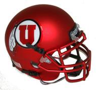 Utah Utes Satin Red Alternate 9 Schutt Mini Authentic Helmet