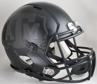 Texas A&M Aggies Alternate BlackOut Matte Black NCAA Riddell SPEED Mini Helmet