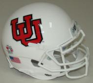 Utah Utes Alternate 10 White Schutt Mini Authentic Helmet
