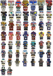 All 51 Official Super Bowl Commemorative Lapel Pins - 51 Total