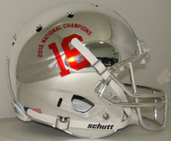 Alabama Crimson Tide Alternate CHROME 2015 FBS National Champions Schutt #16 Full Size Replica Helmet