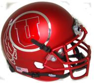 Utah Utes Satin Red Alternate 12 Schutt Mini Authentic Helmet