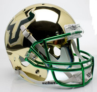 South Florida Bulls Alternate Gold Chrome Schutt Full Size Replica Helmet