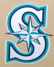 SEATTLE MARINERS TEAL FULL SIZE HELMET 3M STICKER DECAL