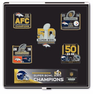 Denver Broncos Super Bowl 50 Champions Commemorative Pin Set - Limited