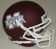 Mississippi State Bulldogs Alternate Matte with White Mask Schutt Mini Authentic Helmet