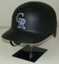 Colorado Rockies Matte Black Rawlings Coolflo REC Full Size Baseball Batting Helmet